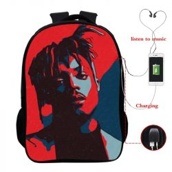 Coolest Juice Wrld Backpack Teens USB Charge Backpack