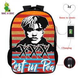 Juice Wrld Print Waterproof Backpack