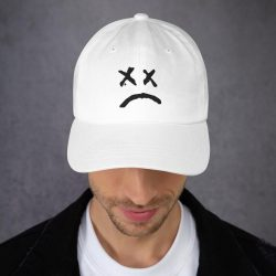 Lil Peep Sad Face Dad Hat (Cap) - MillionMerch