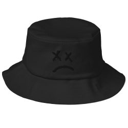 Lil Peep Sad Face Old School Bucket Hat - MillionMerch