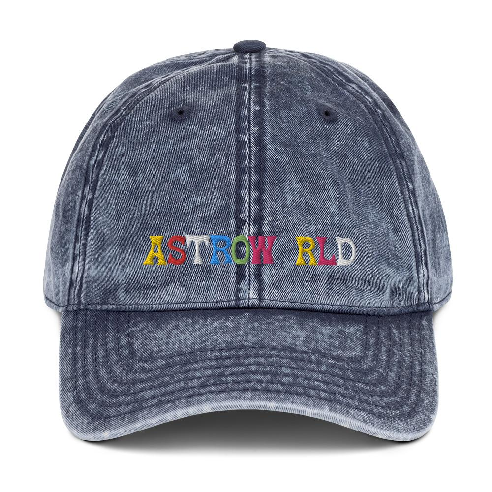 Travis Scott Astroworld Vintage Cotton Twill Cap For Men and Women - MillionMerch
