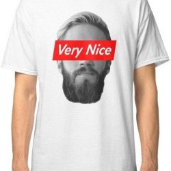 Very Nice Pewdiepie Men's White T-Shirt - MillionMerch