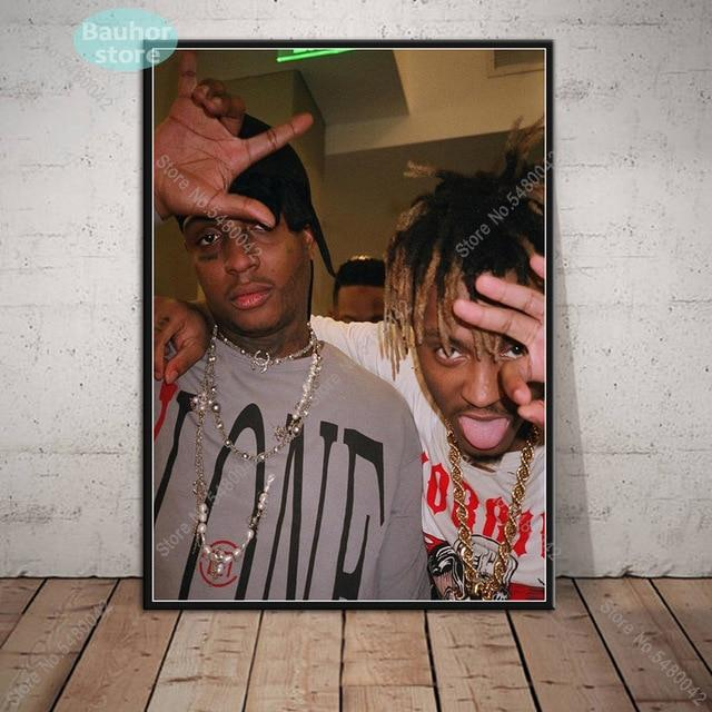 Juice WRLD Poster Rapper Music Star Canvas Painting Posters and Prints Wall Art - MillionMerch