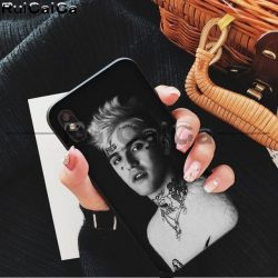 Lil Peep Soft Rubber Black Phone Case for iPhone - MillionMerch