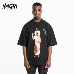 NAGRI Kanye Jesus Is King T shirt Aesthetic Men - MillionMerch