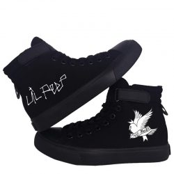 Lil Peep Lace Up Canvas Shoes Women - MillionMerch