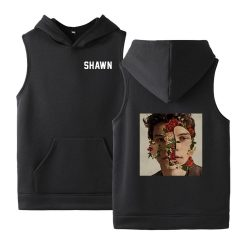New RAP Shawn Mendes Graphics Hooded Pocket Sleeveless Sweatshirt - MillionMerch