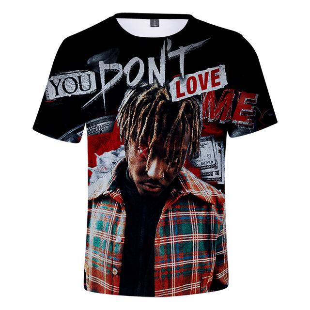 Rapper Juice Wrld short sleeve T-shirt 3D - MillionMerch