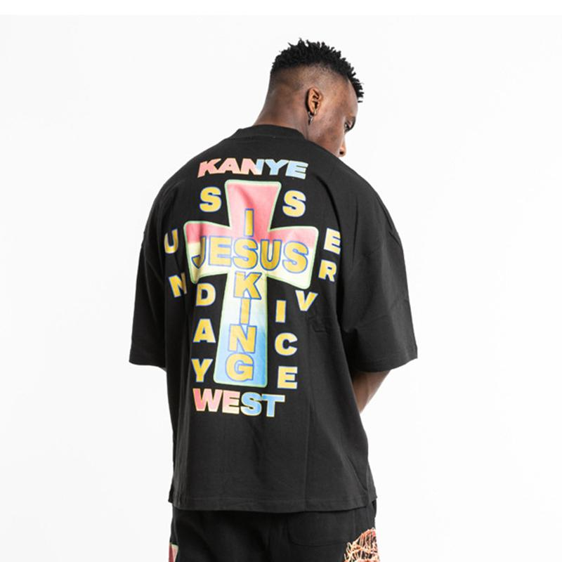 Kanye West Jesus O-Neck Summer T-shirts - MillionMerch
